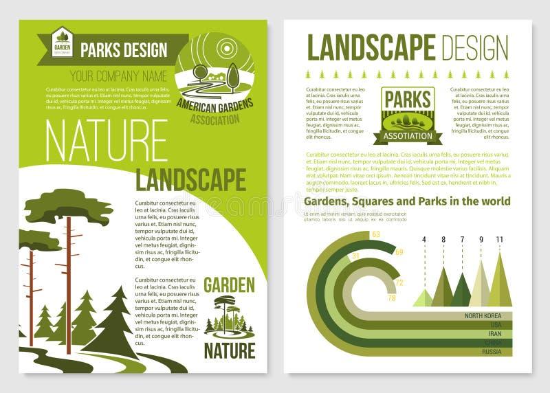 Wektorowa broszurka dla natura krajobrazu projekta royalty ilustracja