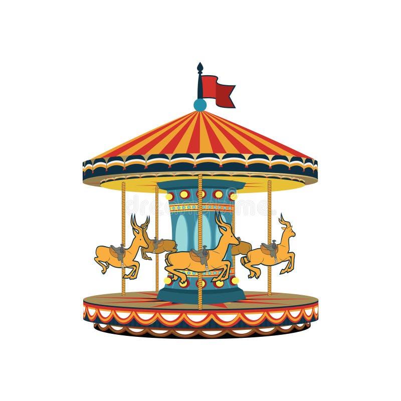 Wektorowa carousel ilustracja fotografia stock