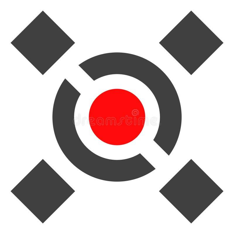 Wektorowa centrali połączenia ikona ilustracja wektor