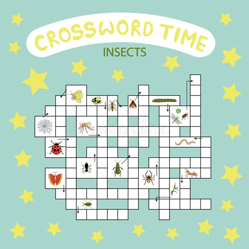 Wektorowa crossword łamigłówka ilustracji