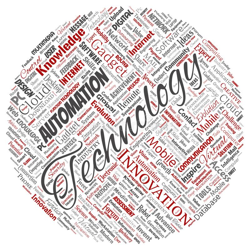 Wektorowa cyfrowa m?drze technologia, innowacja ?rodki royalty ilustracja