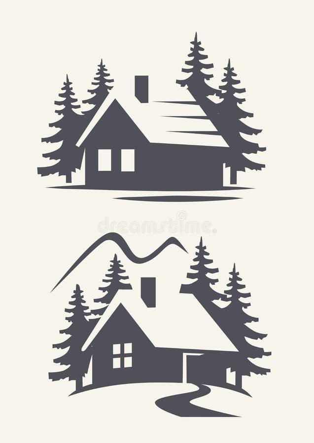Wektorowa czarna kabina ilustracja wektor