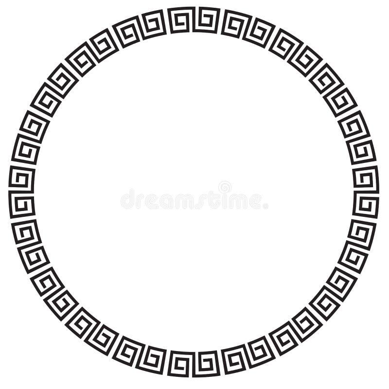 Wektorowa Czarna okrąg rama dla świadectwa, plakat Iść XI. Cai sadło, Imlek moment lub inny Chiny Odnosić sie royalty ilustracja