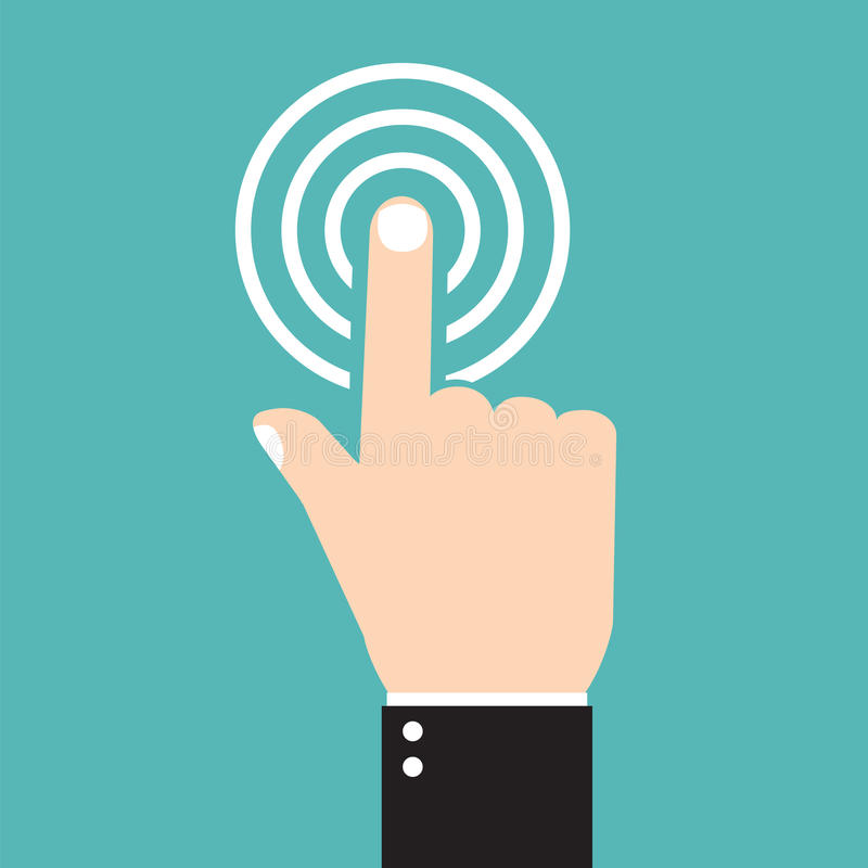 Wektorowa czek oceny ikona, dotyk ikona ilustracja wektor