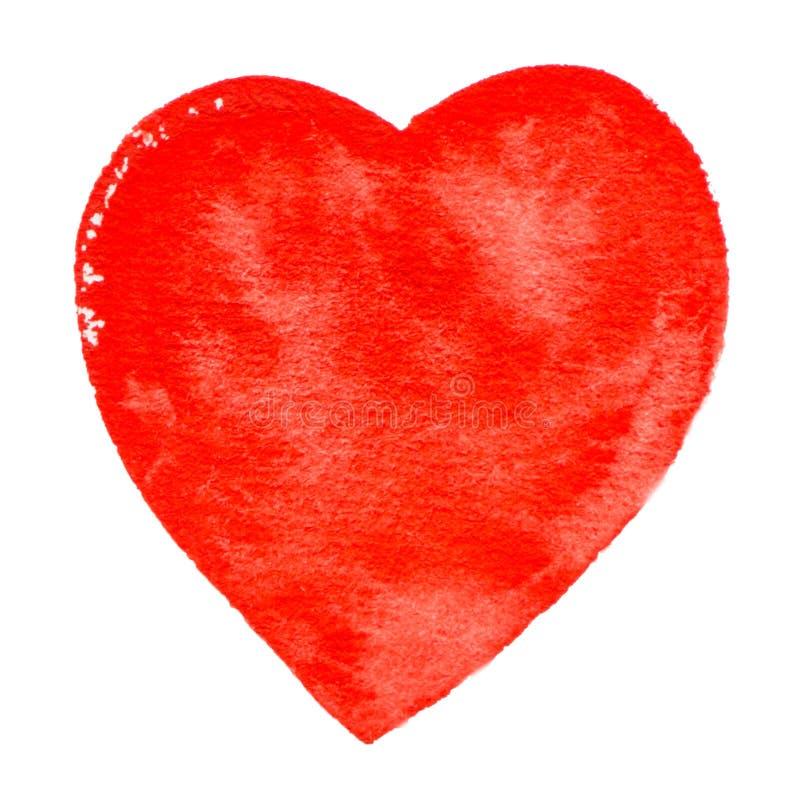 Wektorowa czerwona kierowa akwareli farby tekstura odizolowywająca na bielu royalty ilustracja