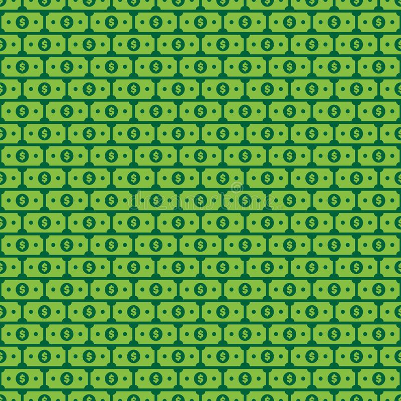 Wektorowa Dolarowego Bill ilustracja ilustracji