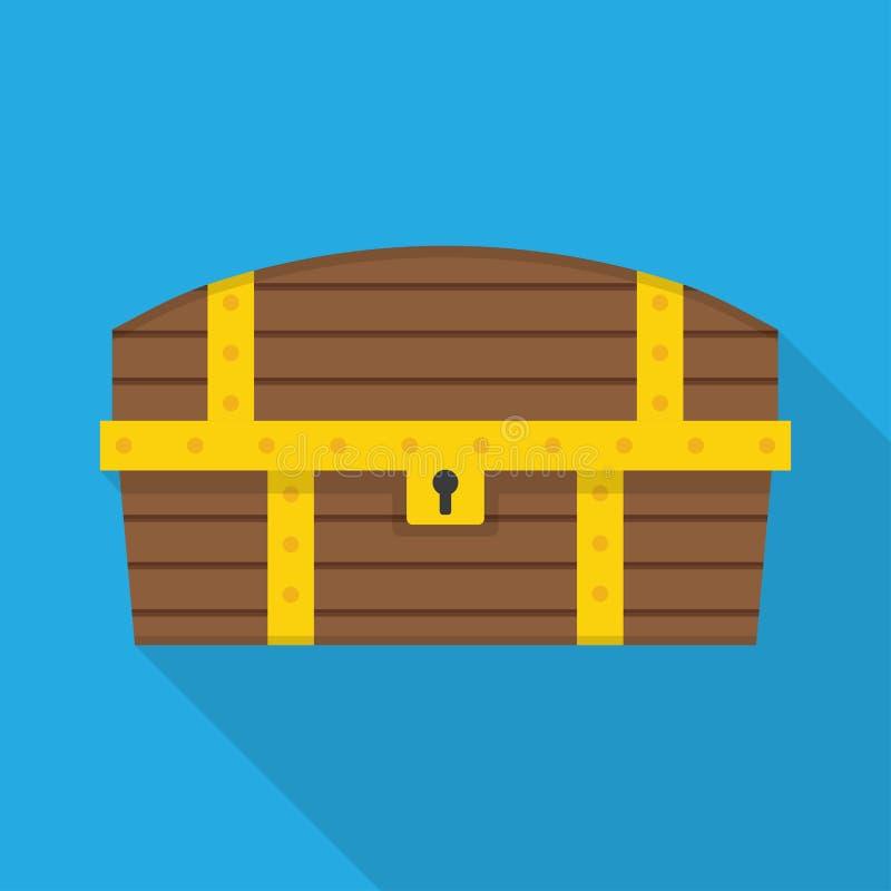 Wektorowa Drewniana klatka piersiowa ilustracji