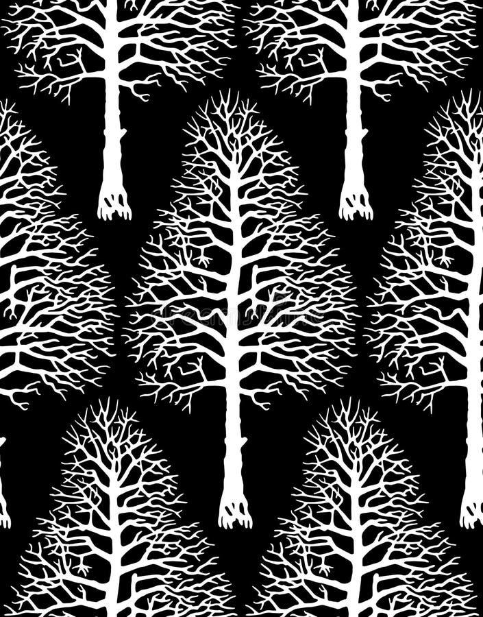 Wektorowa Drzewna sylwetka ilustracji