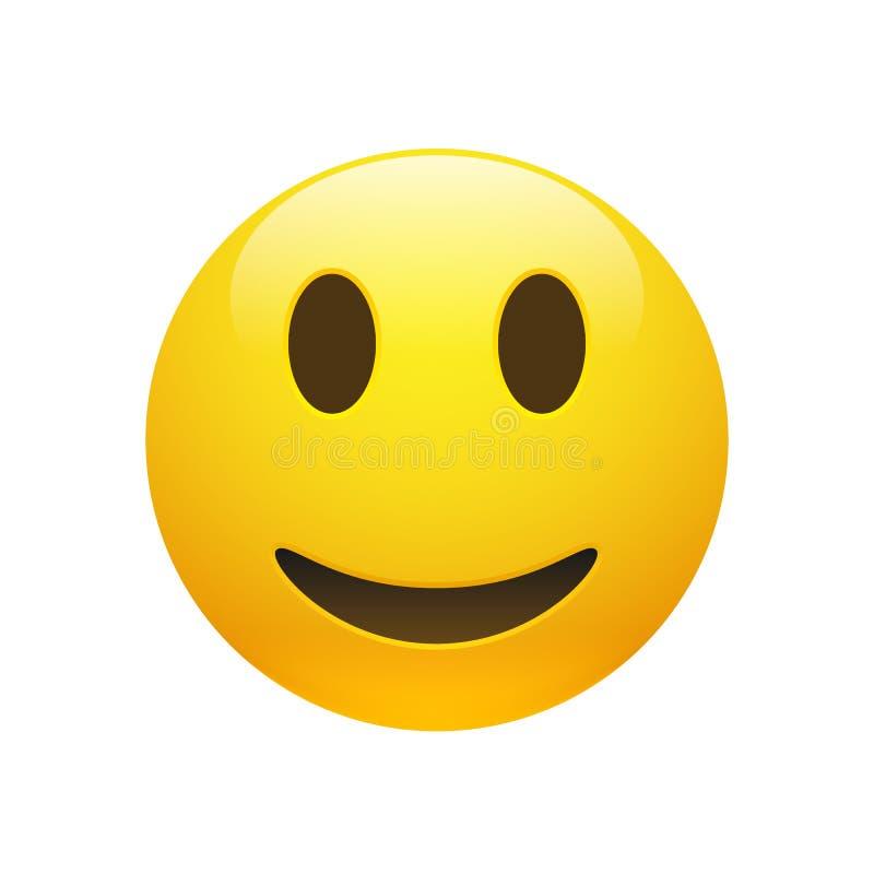 Wektorowa Emoji smiley żółta twarz royalty ilustracja