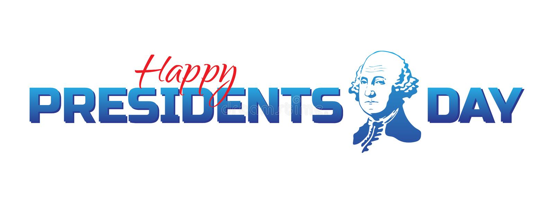 Wektorowa etykietka, logo lub sztandar Szczęśliwi prezydenci dni, - Krajowy amerykański wakacje Wektorowa ilustracja odizolowywaj ilustracja wektor
