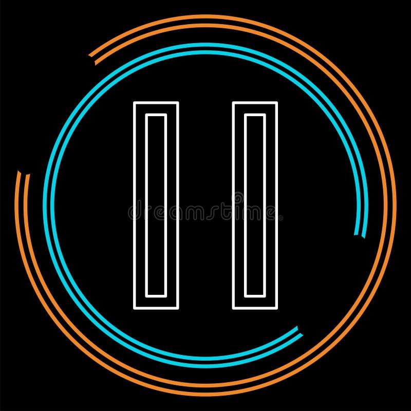 Wektorowa fermata guzika ikona - medialny symbol ilustracji