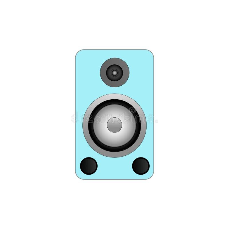 Wektorowa głośnikowego systemu ilustracja na białym tle ilustracja wektor