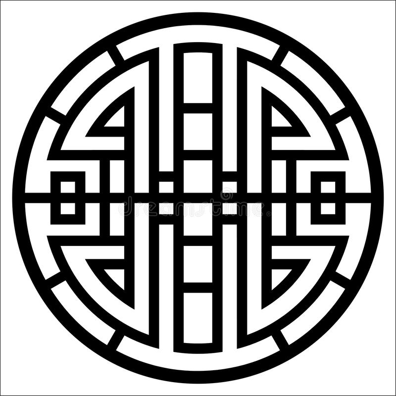 Wektorowa geometria ornamentu projekt ilustracji