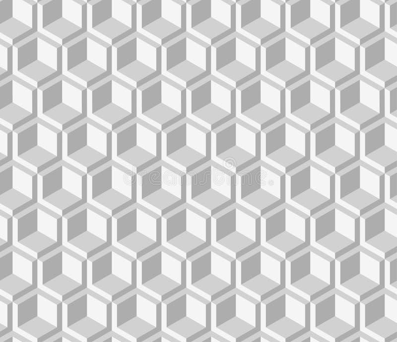 Wektorowa geometryczna bezszwowa prosta czarny i biały nowożytna tekstura ilustracja wektor