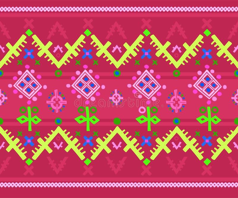 Wektorowa geometryczna folklor łata dla tkanina projekta ilustracji