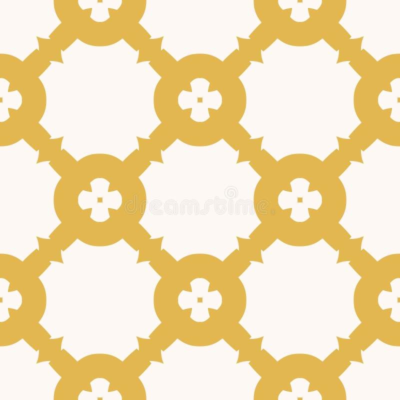 Wektorowa geometryczna kwiecista tekstura Abstrakcjonistyczny koloru ? ilustracji