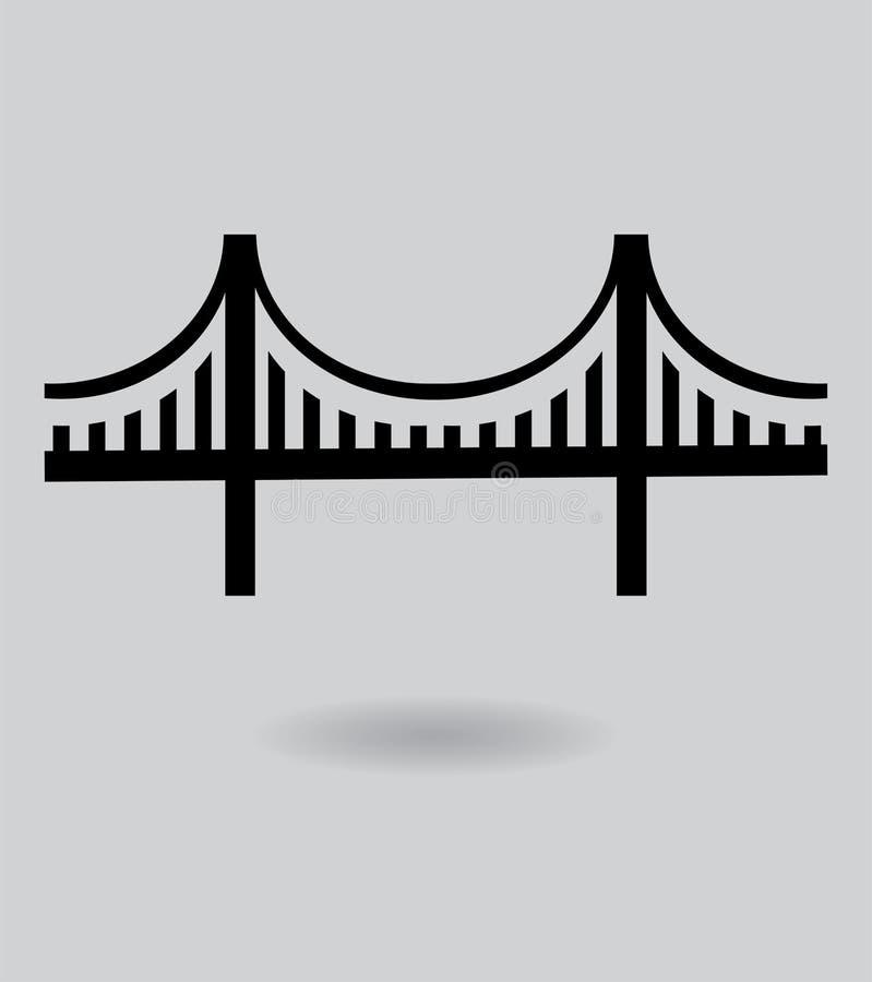 Wektorowa Golden Gate Bridge ikona ilustracja wektor