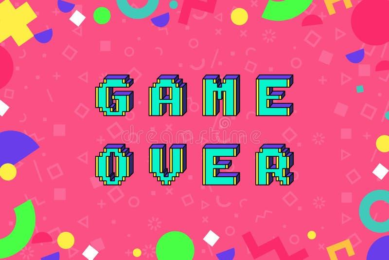 Wektorowa gra nad zwrotem w piksel sztuce ilustracja wektor
