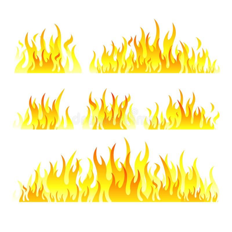 Wektorowa grafika płonie ilustrację na bielu royalty ilustracja