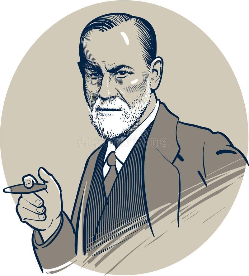 03 24 2018 Wektorowa grafika sławny psycholog Sigmund Freud 2009 amerykańskiego auto odwracalnego Detroit redakcyjnego międzynaro ilustracja wektor