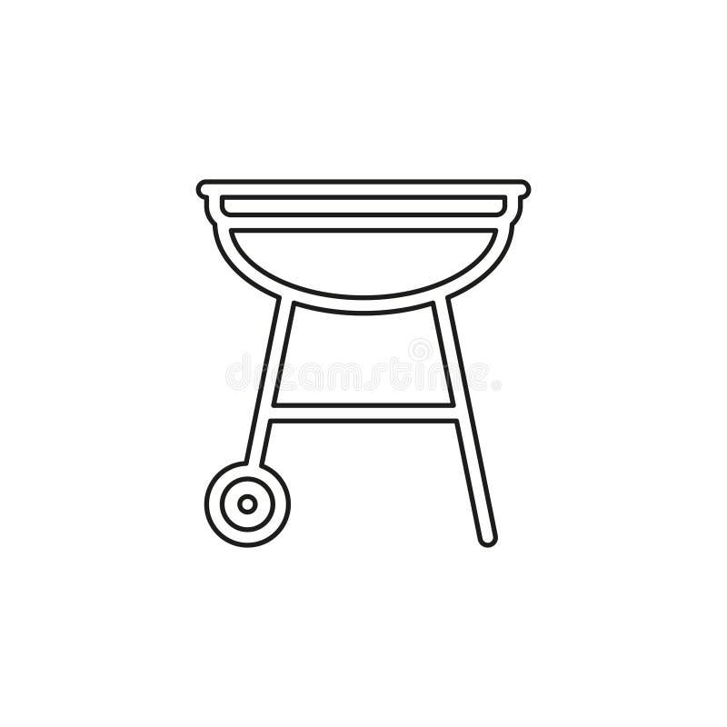 Wektorowa grilla bbq menu ikona, kulinarny mi?so ilustracja wektor