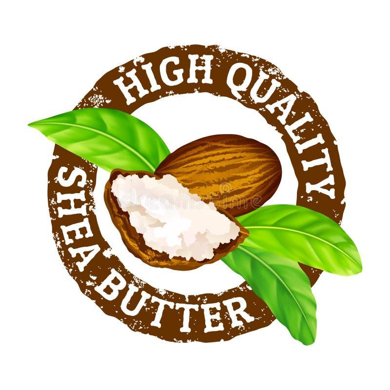 Wektorowa grunge pieczątka Wysokiej jakości masłosza masło na bielu royalty ilustracja