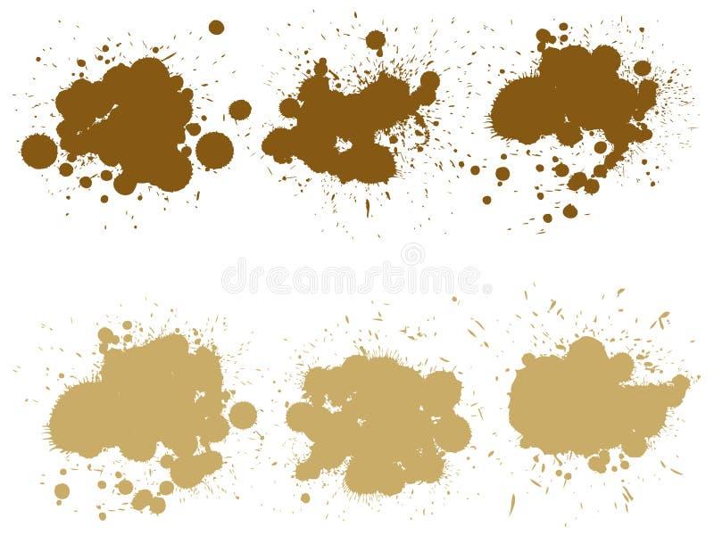 Wektorowa grungy farby kropla, ręcznie robiony kreatywnie pluśnięcie ilustracja wektor