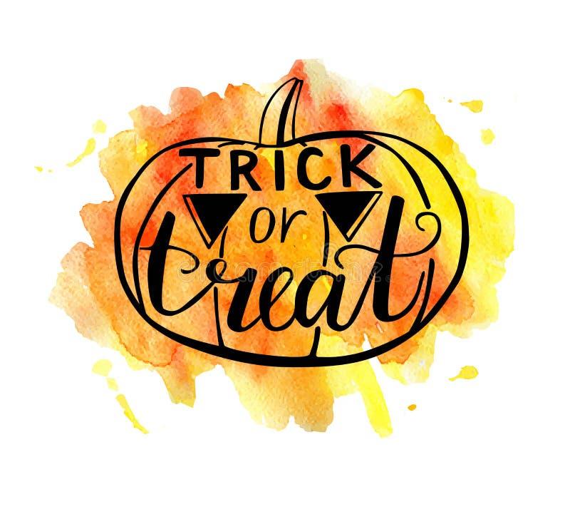 Wektorowa Halloweenowa ilustracja z akwareli teksturą ilustracji