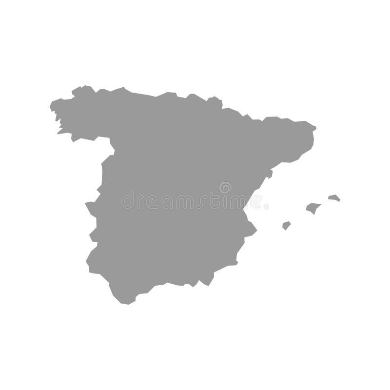 Wektorowa Hiszpania mapa royalty ilustracja