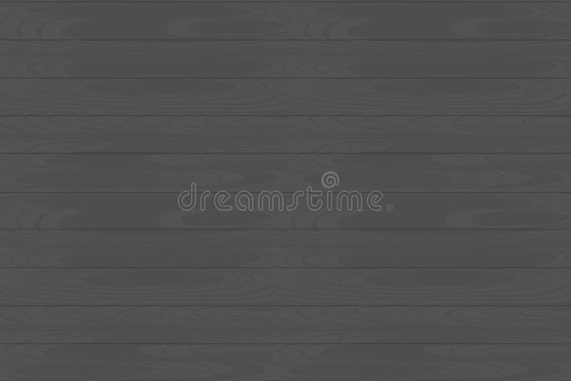 Wektorowa horyzontalna bezszwowa drewniana tekstura EPS ilustracji