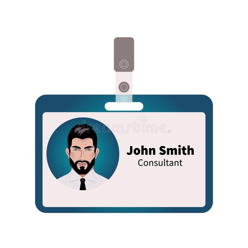 Wektorowa ID odznaka ilustracja wektor