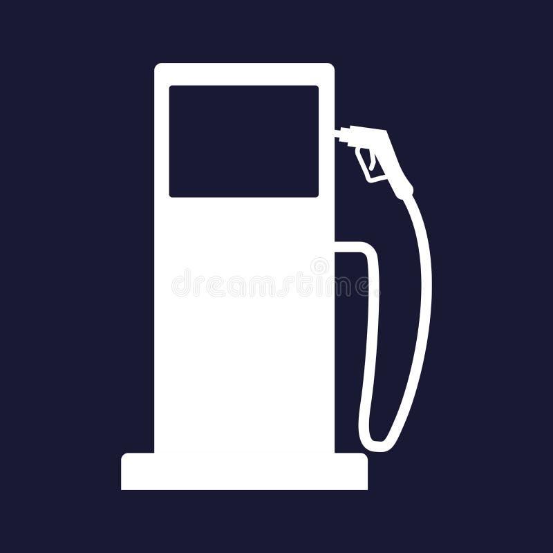 Wektorowa ikona benzynowa stacja, benzyna, benzyna, benzine, gaz, es ilustracji