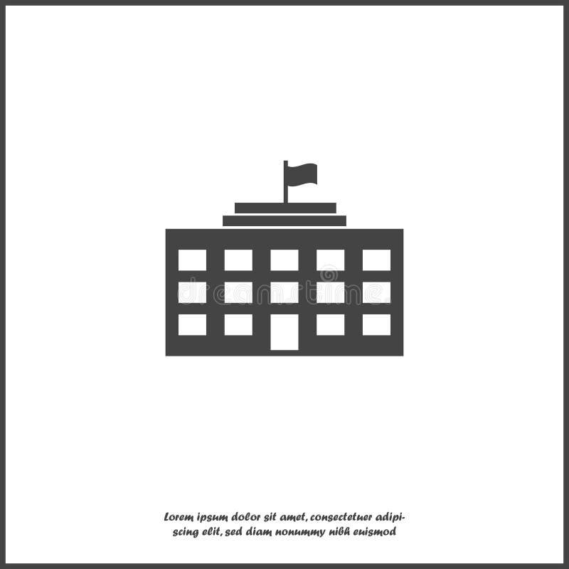 Wektorowa ikona biznesowy budynek biurowy na białym odosobnionym tle Warstwy grupować dla łatwej edytorstwo ilustraci Dla twój royalty ilustracja