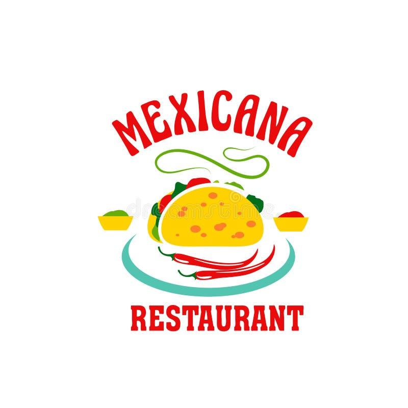 Wektorowa ikona dla Meksykańskiej kuchni restauraci ilustracja wektor