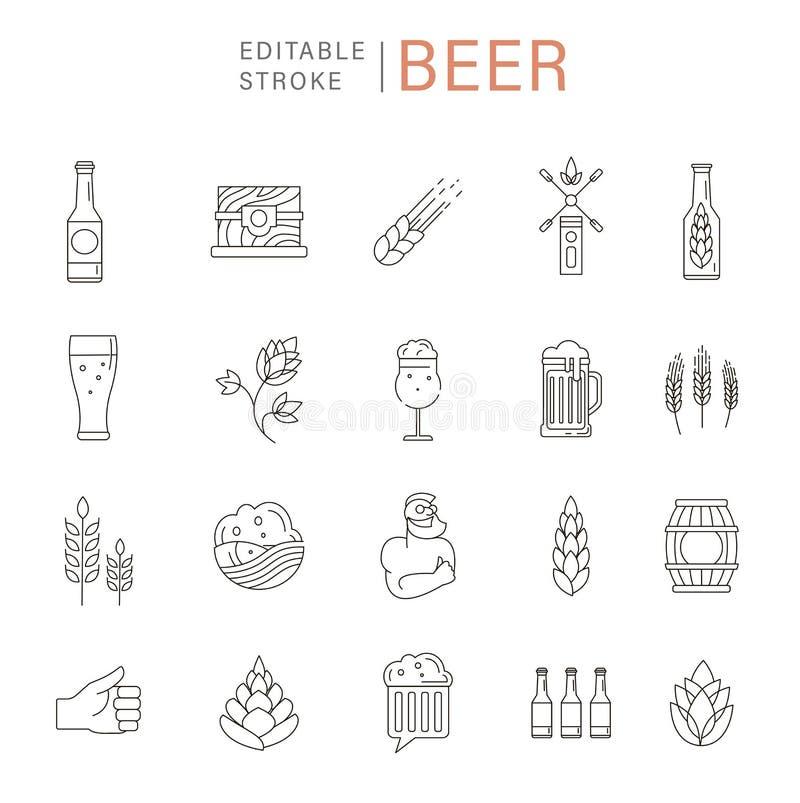 Wektorowa ikona, logo browar i piwo i ilustracja wektor