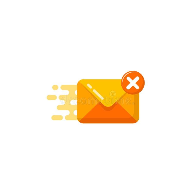 wektorowa ikona nieudany wysyła wiadomość prostego płaskiego projekta wiadomości i poczty wektorowy symbol royalty ilustracja