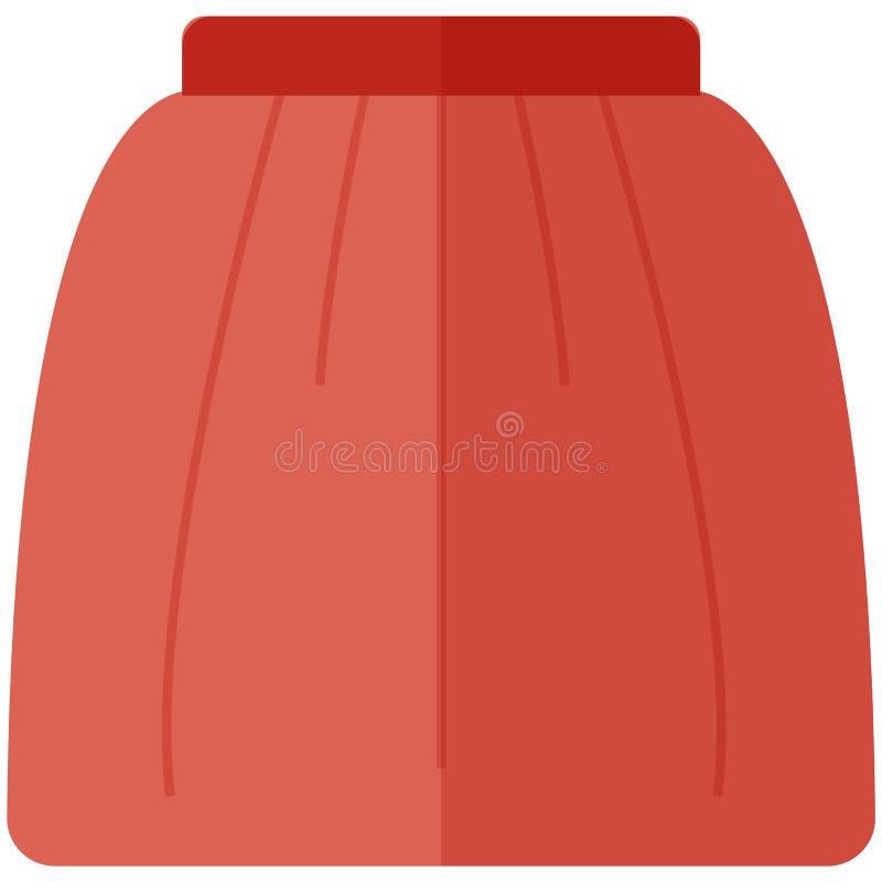 Wektorowa ikona spódnica dla kobiet w mieszkanie stylu bez konturu Piksel Perfect biznes i biurowy spojrzenie ilustracja wektor