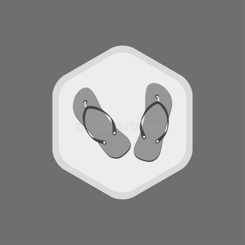 Wektorowa ikona trzepnięcie klapy Monochromatyczny rysunek na bia?ym tle ilustracja wektor