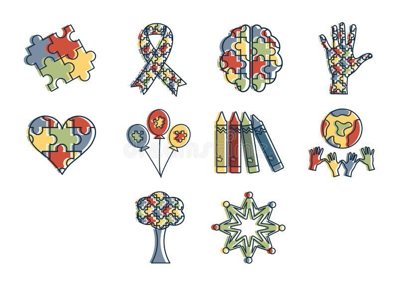 Wektorowa ikona ustawiająca dla świadomości ilustracja wektor