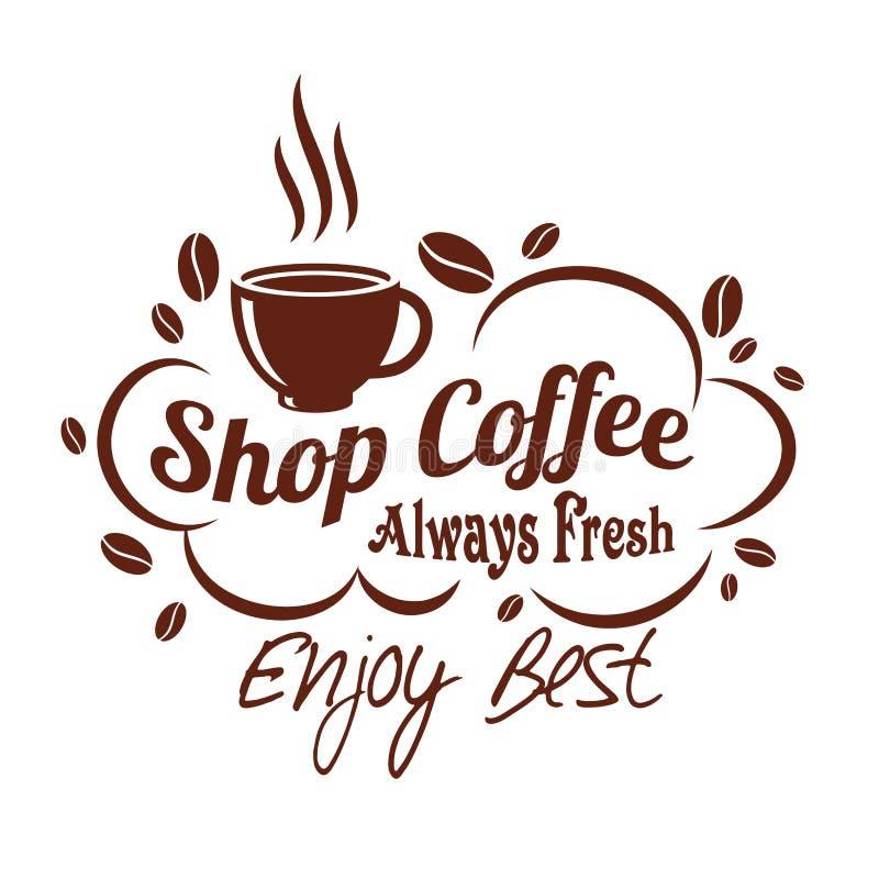 Wektorowa ikony filiżanka, fasola dla coffeeshop lub ilustracji