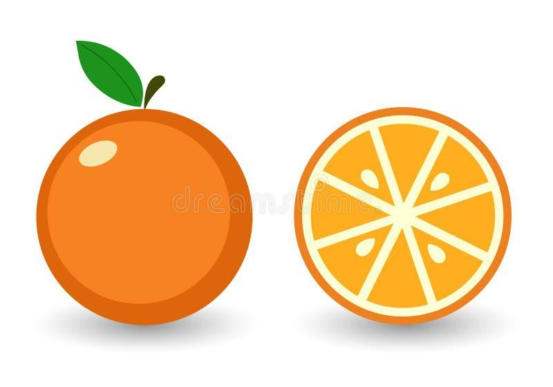 Wektorowa ikony pomarańcze ilustracji
