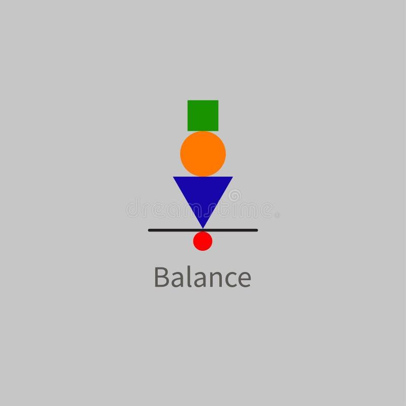Wektorowa ikony równowaga ilustracja wektor