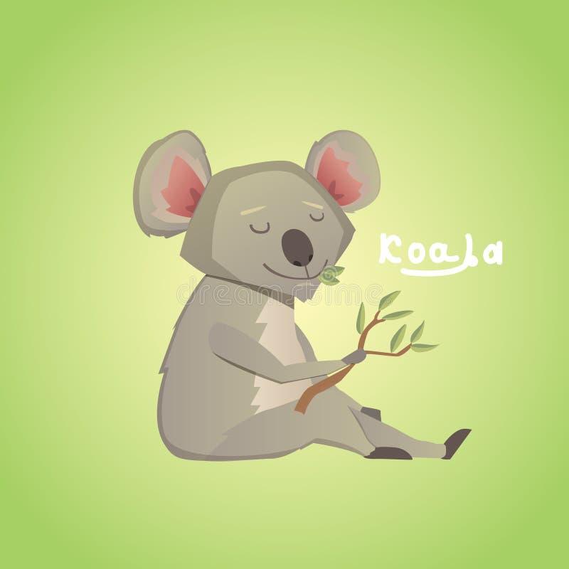 Wektorowa ilustracja śliczna kreskówki koala royalty ilustracja