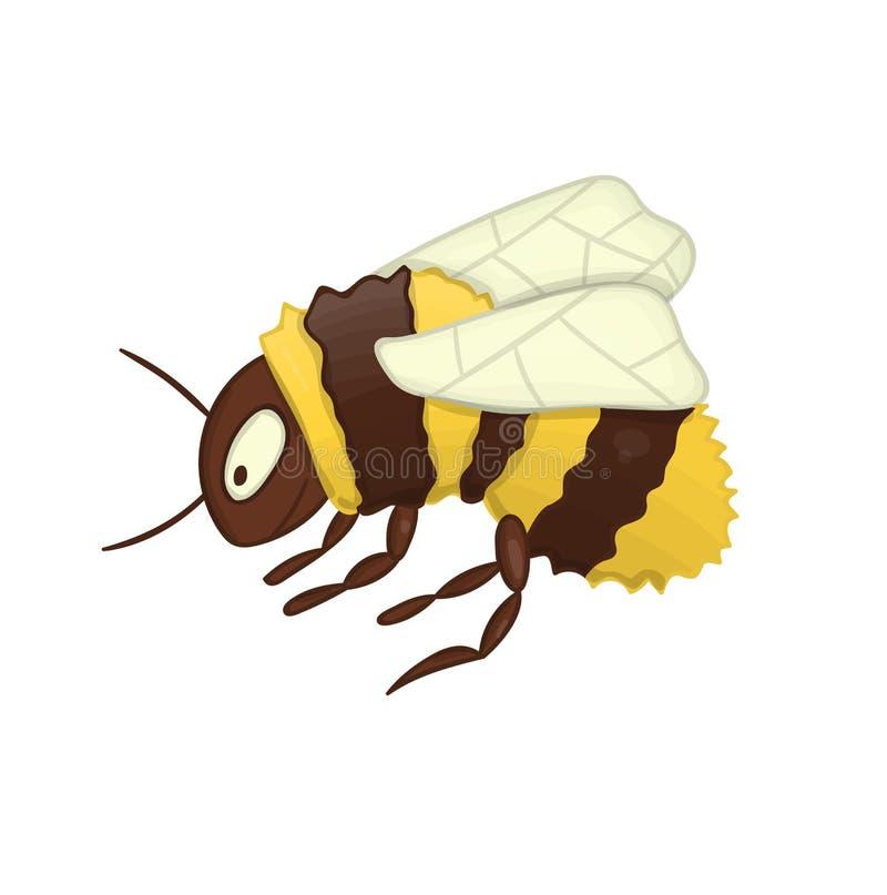 Wektorowa ilustracja śliczny bumblebee royalty ilustracja