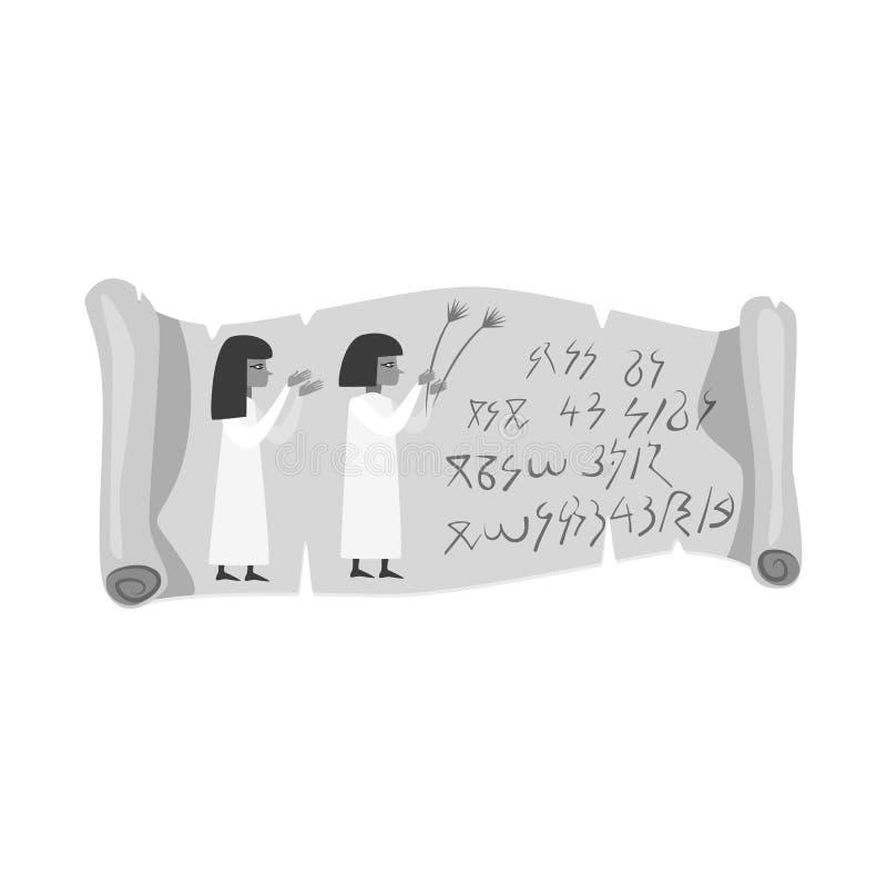 Wektorowa ilustracja ślimacznicy i papirusu logo Kolekcja ślimacznicy i rolki akcyjny symbol dla sieci royalty ilustracja