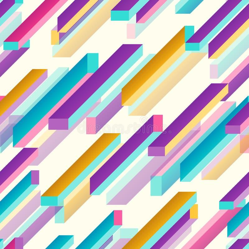 Wektorowa ilustracja abstrakcjonistyczny stubarwny geometryczny prostokąta tło ilustracji