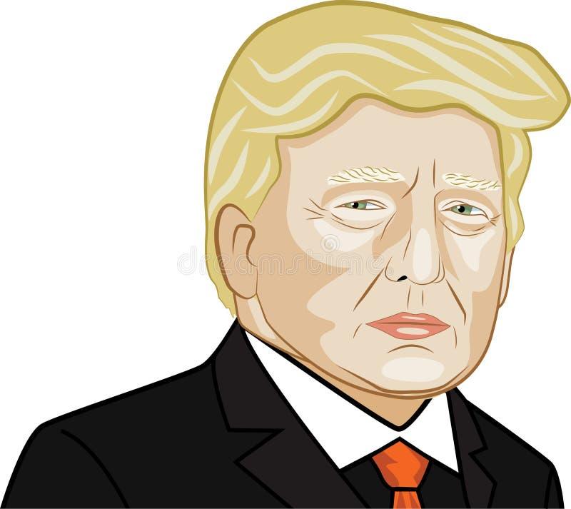Wektorowa ilustracja Amerykański prezydenta Donald atut royalty ilustracja