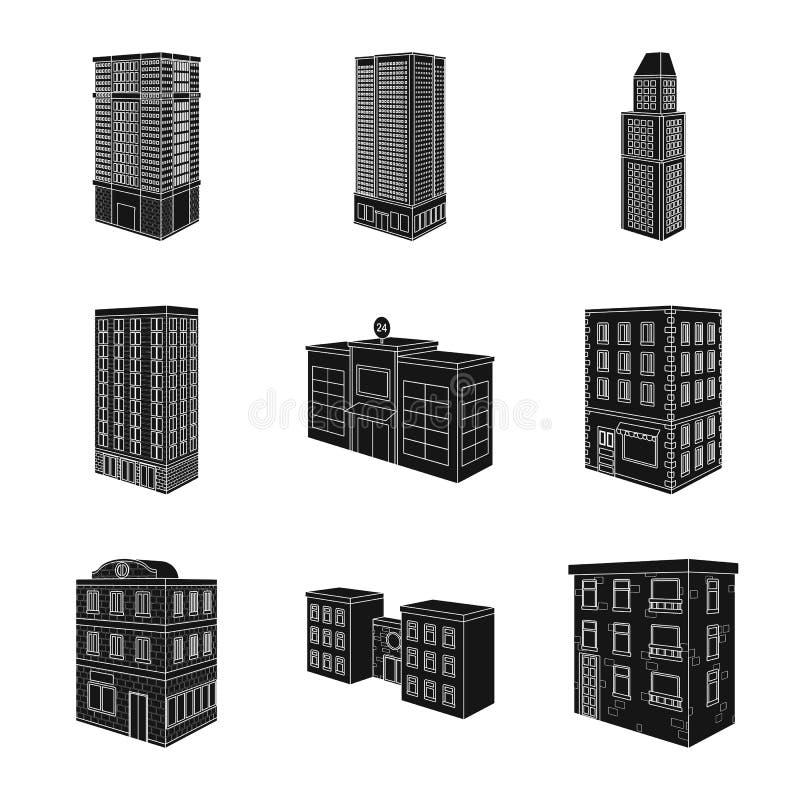 Wektorowa ilustracja architektury i nieruchomo?ci znak Set architektury i budowy akcyjny symbol dla sieci royalty ilustracja