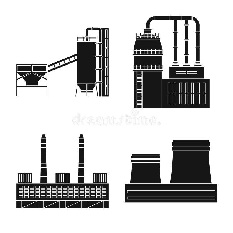 Wektorowa ilustracja architektury i technologii symbol Set architektura i budowa? akcyjnego symbol dla sieci ilustracja wektor