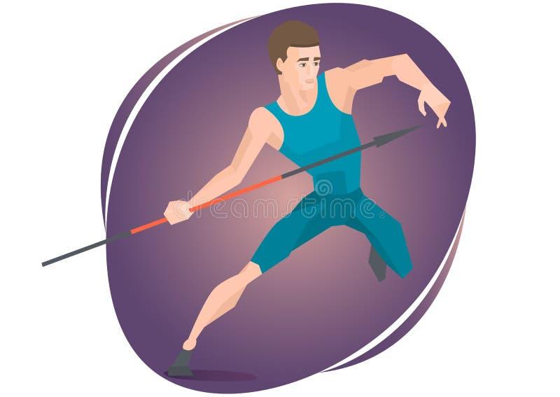 Wektorowa ilustracja atleta rzuca dardę ilustracji
